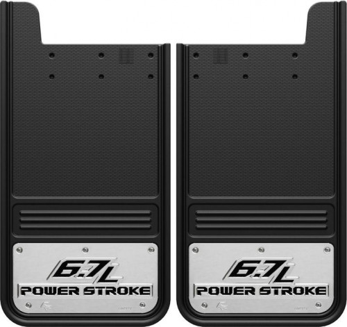 Truck Hardware - Truck Hardware Gatorback 6.7L Powerstroke mudflaps GA1223P-2