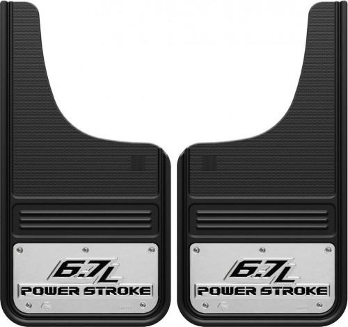 Truck Hardware - Truck Hardware Gatorback 6.7L PowerStroke Mudflaps GA1223CUTP-2
