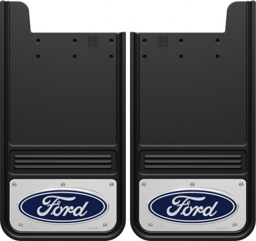 Truck Hardware - Truck Hardware Gatorback Ford Oval Mudflaps GB1223F-C