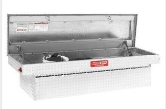 Weather Guard - Weather Guard WG-300105-9-01 Defender Full Size Saddle Box, Aluminum