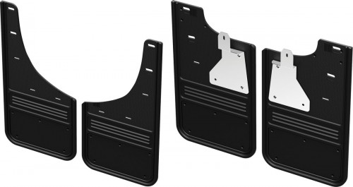 Truck Hardware - GCR28K-BK No Drill CHEVY BOWTIE Front and rear Mud Flaps