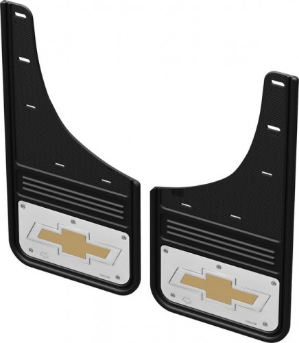Truck Hardware - No Drill CHEVY BOWTIE Front Mud Flaps