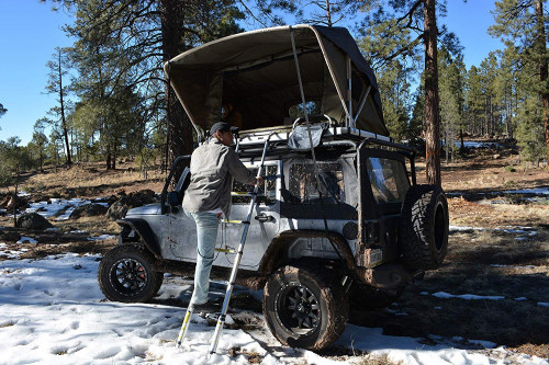 Raptor - Raptor Camping Rooftop Tent with Ladder